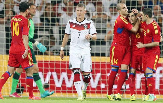 Линия атаки сборной Армении