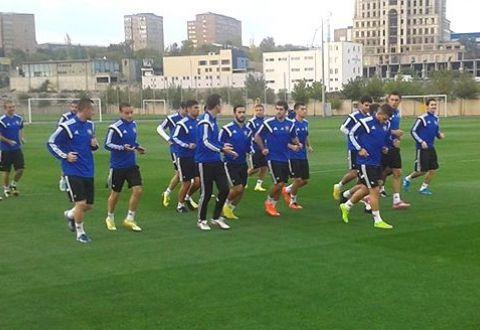 Тренировка сборной Армении