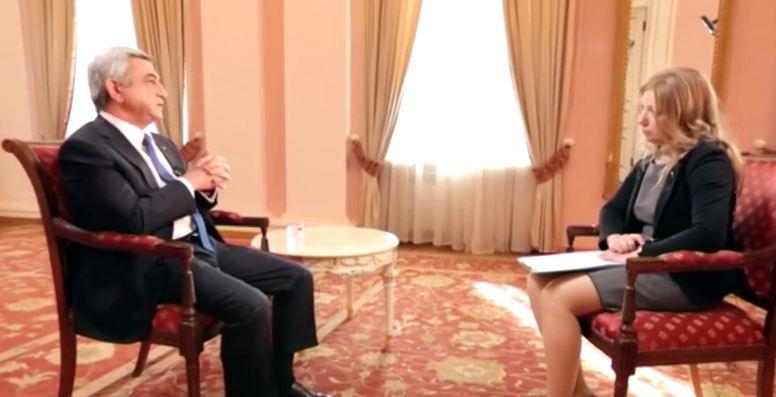 Интервью Сержа Саргсяна телеканалу «Мир»