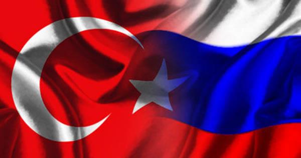 Флаги Турция и Россия