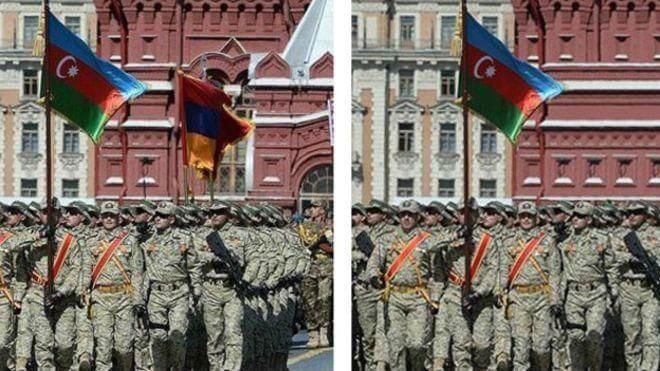 Флаг Армении на параде
