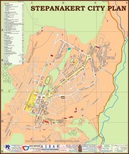 Карта Степанакерта (Нагорный Карабах)