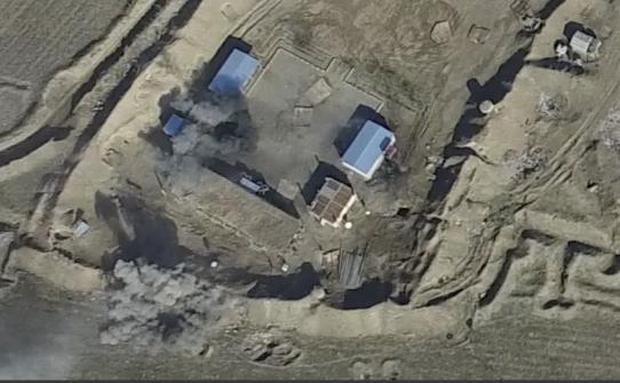 Минометный обстрел азербайджанских баз
