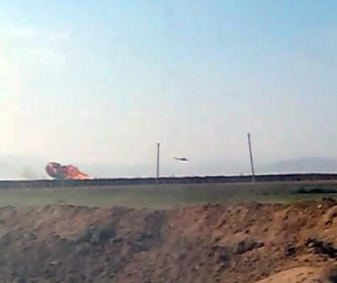 Сбитый армянский вертолет