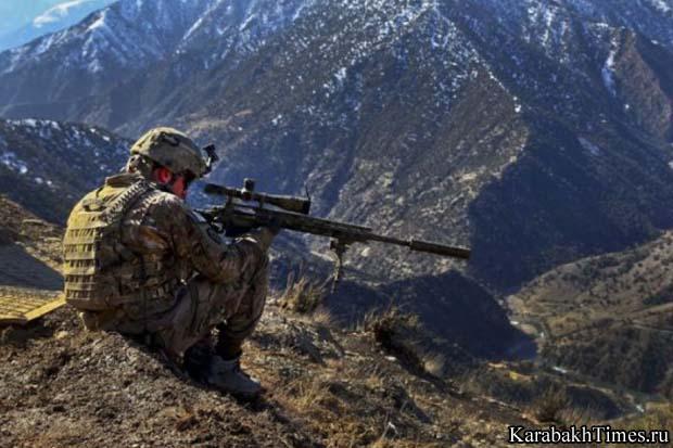 Снайпер на границе Карабаха