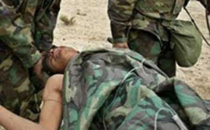 Убитый азербайджанский солдат