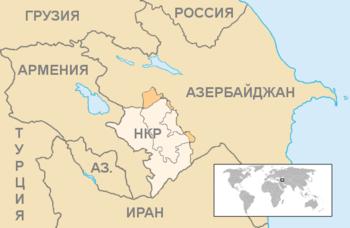 Нагорный Карабах на карте