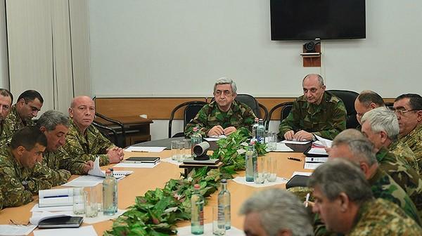 Президенты Армении и Арцаха - Серж Саргсян и Бако Саакян