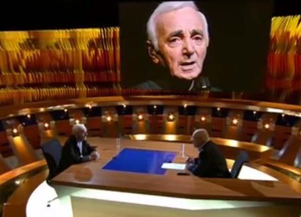 Шарль Азнавур на передаче Познер